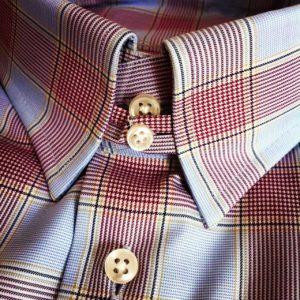 koszula w kratę z tab collar