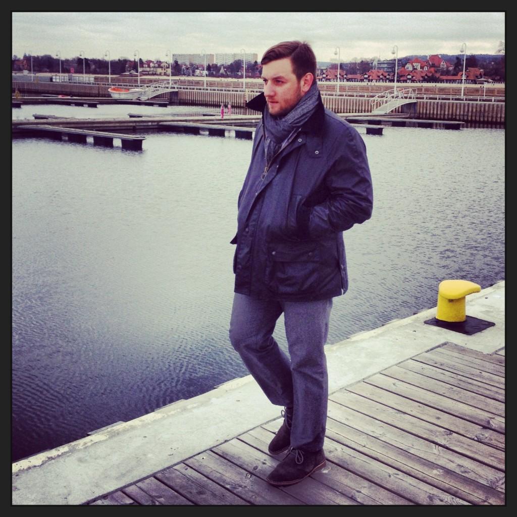 kurtka Barbour w stylizacji Tomasza Milera