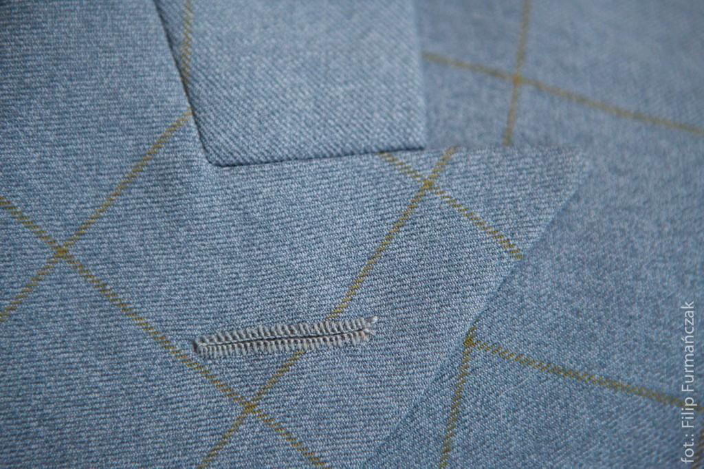 zbliżenie tkaniny i klap garnituru