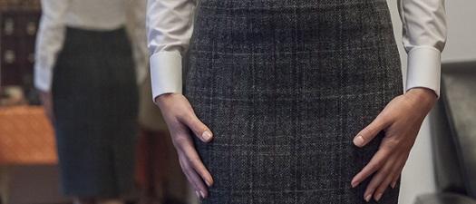 Damska koszula MTM i spódnica bespoke z Harris Tweedu