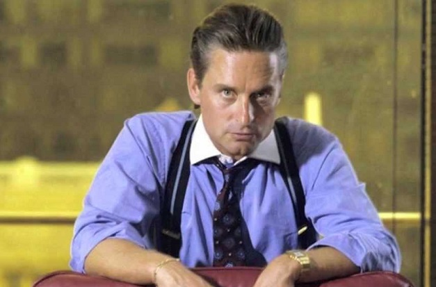Michael Douglas jako Gordon Gekko w Wall Street