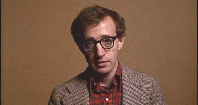 Woody Allen we flanelowej koszuli