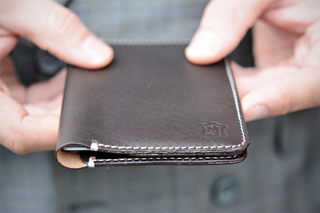 cienki portfel bez podszewki