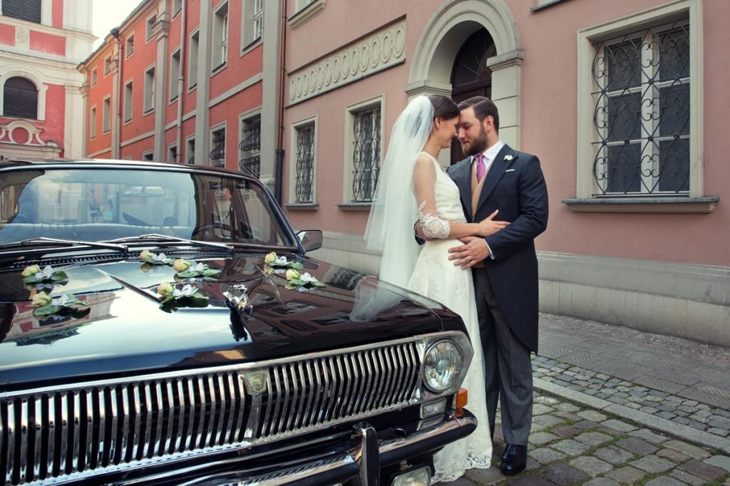 Olga i Tomasz Miler w dniu ślubu