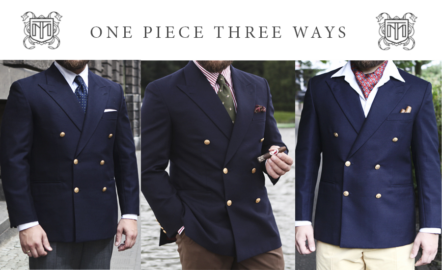 Navy Blazer Tom Miler One Piece Three Ways