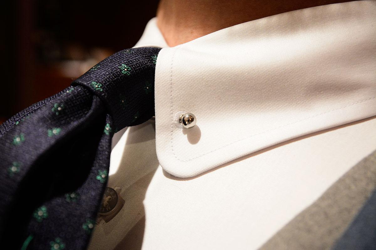 Koszula Pin Collar, dwurzędowa kamizelka i garnitur w kratę