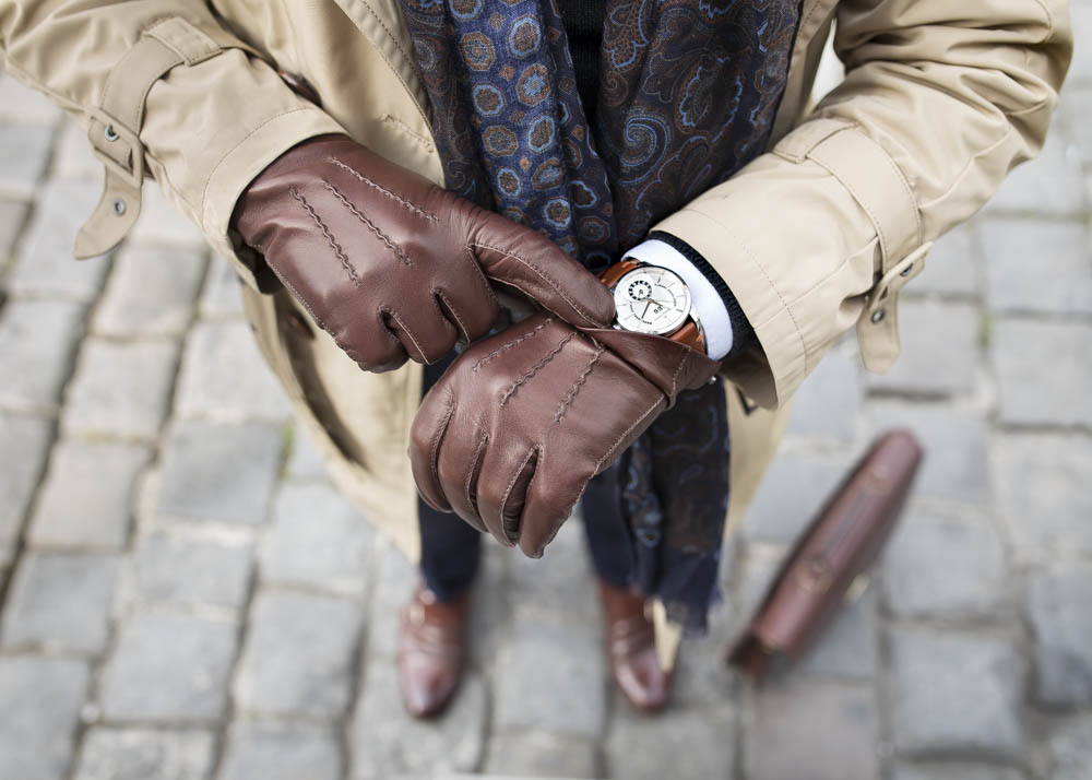 Rękawiczki ze skóry jagnięcej bez podszewki