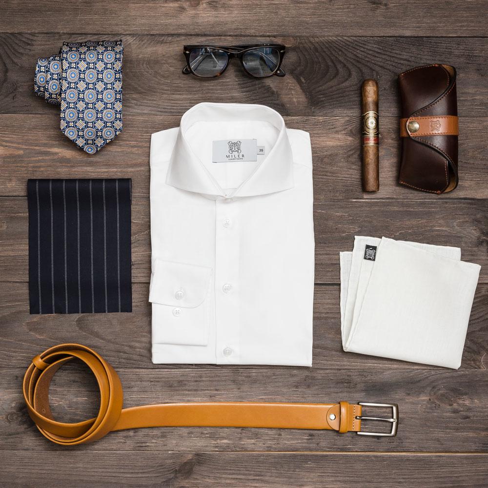 Koszula biała tkanina pinpoint