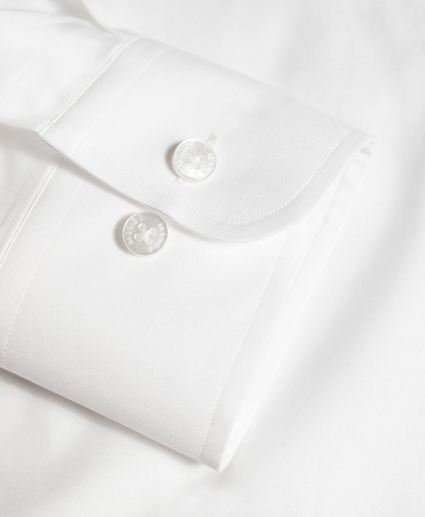 Koszula biała z tkaniny pinpoint