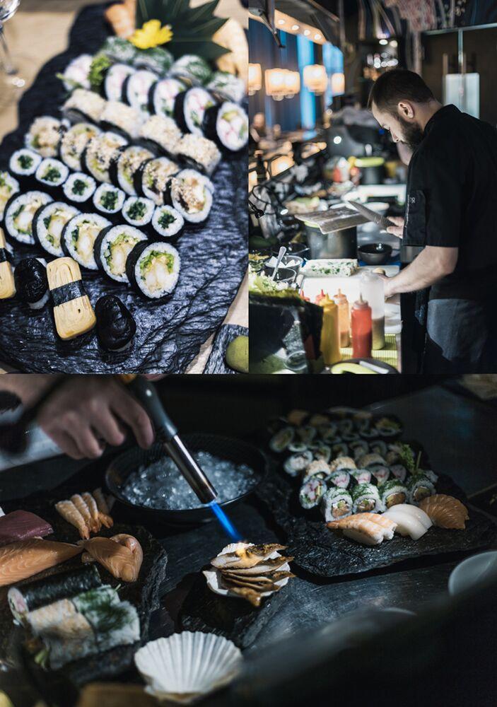 jedzenie sushi mati