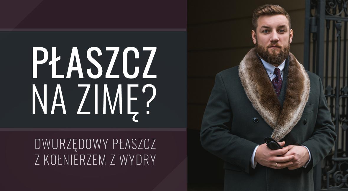 Płaszcz na zimę? Dwurzędowy płaszcz z kołnierzem z wydry